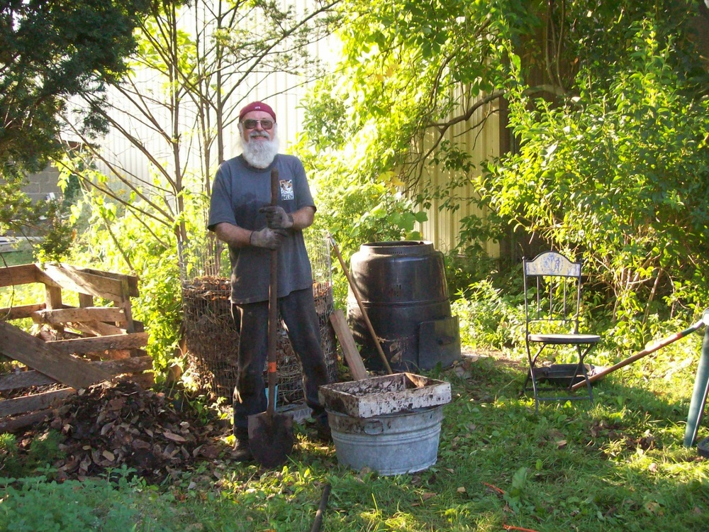 John Milich calculates he saves over $100 just by composting his leaves each year. Photo: Iris Milich