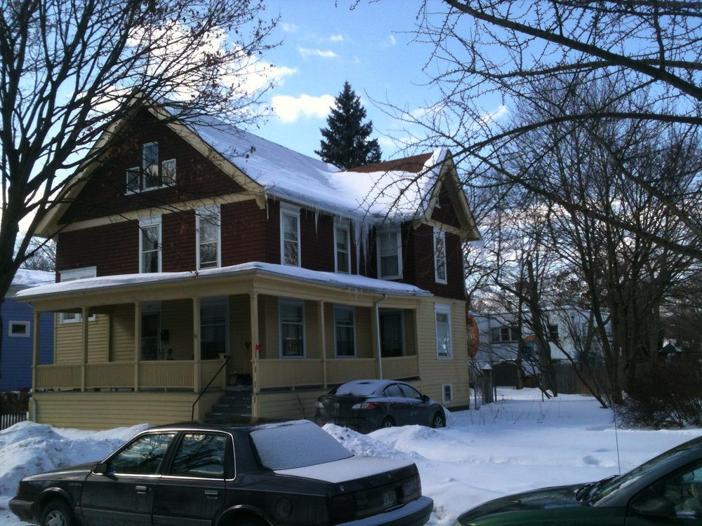 Icicles on homes may indicate air leaks or a lack of insulation in the attic. (Photo: Karim Beers)