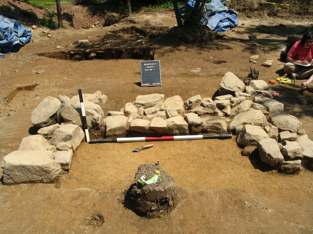 Excavated hearth feature