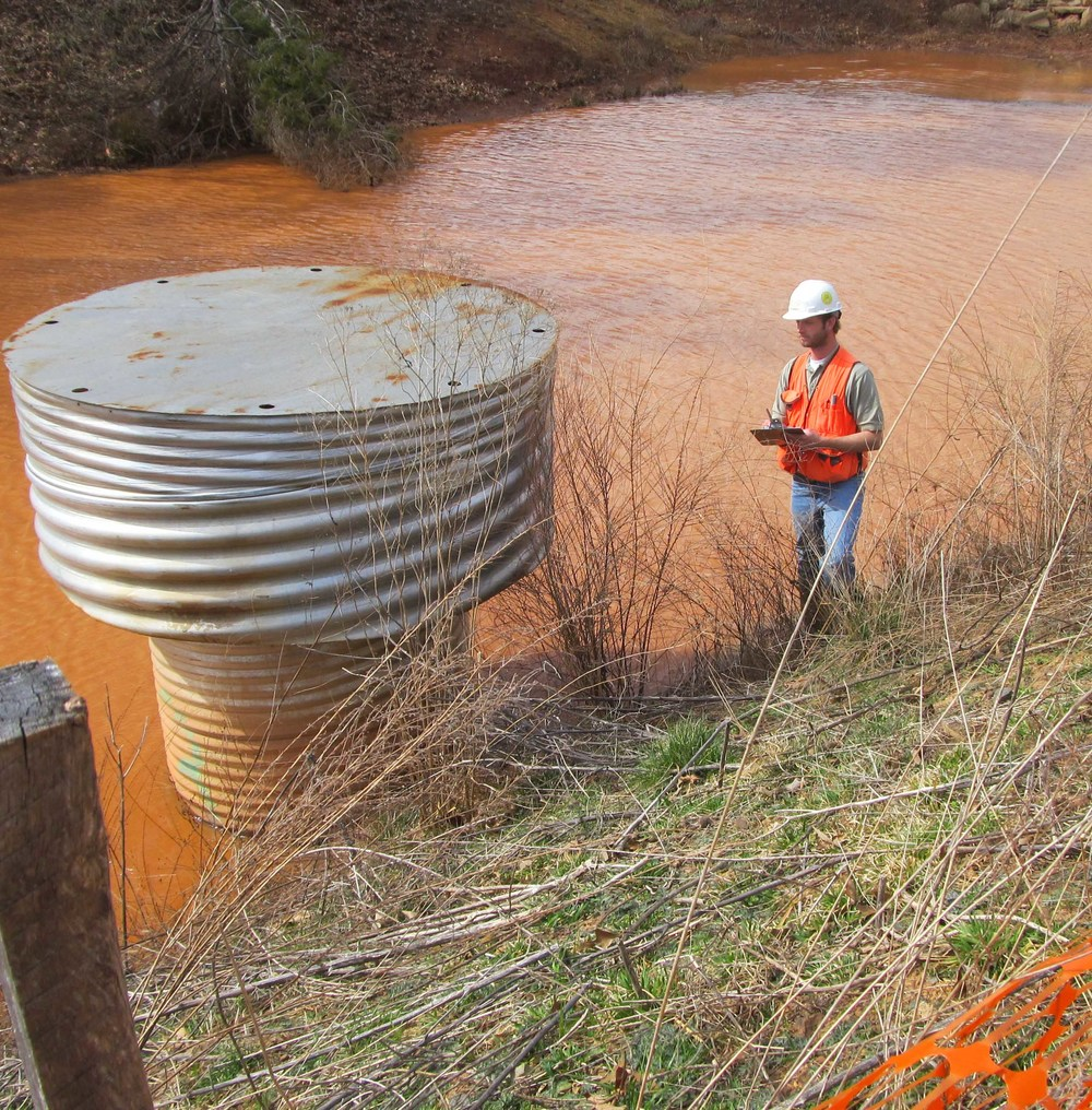 WSSI staff conducting Sediment Basin and E&S Inspection
