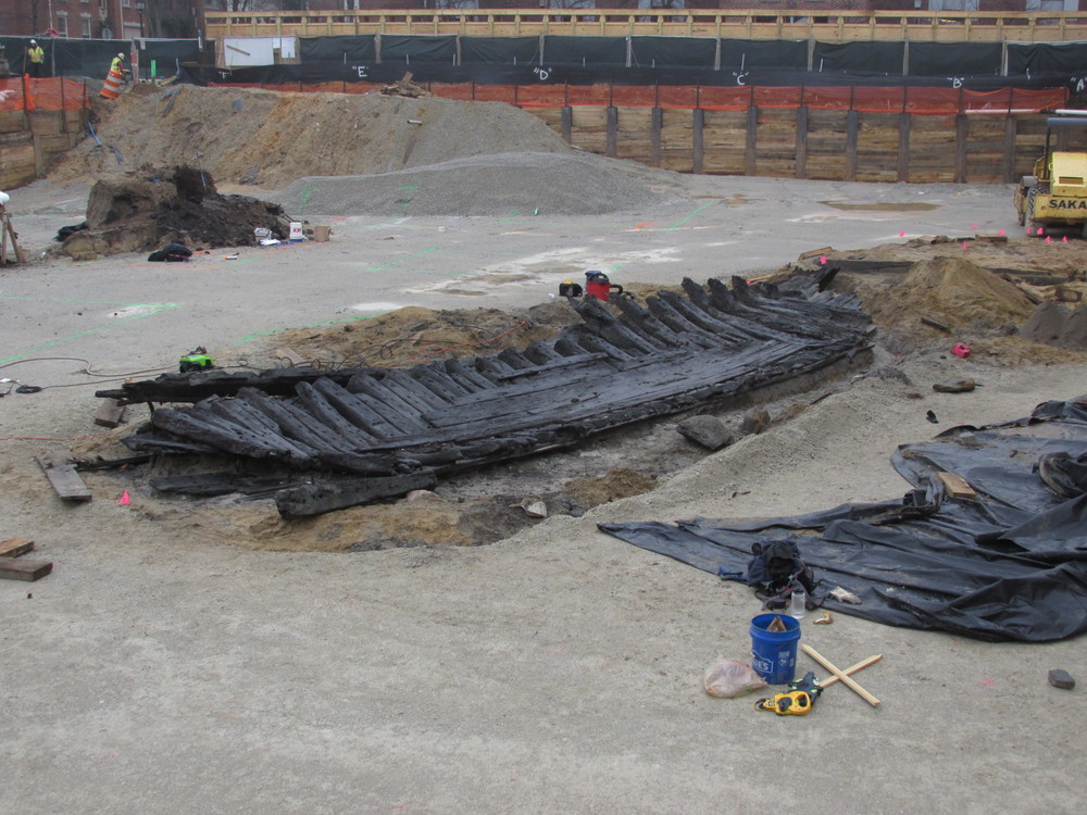 WSSI archeologists estimate that roughly 30-40% of the port side of the ship is left intact.