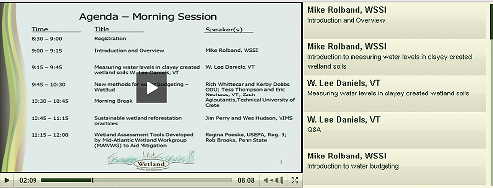 Click  H  ERE  to view recorded sessions of the Symposium. Scroll through the videos to choose topics that interest you. Click on the crosshairs symbol in the player toolbar (next to the volume) to view full screen.