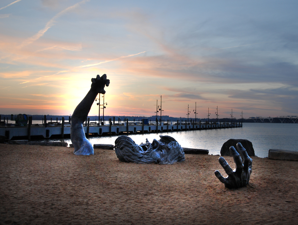 "WSSI obtained a permit modification for installation of ""The Awakening,"" a sculpture by J. Seward Johnson, Jr., along the National Harbor shoreline."
