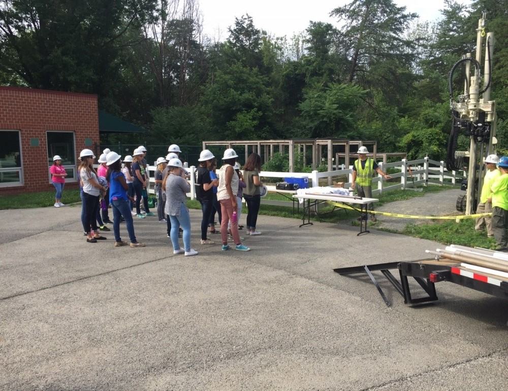WSSI hosted high schoolers participating in the Washington Youth Summit on the Environment; Triad Engineering demonstrated use of a geo probe on site.