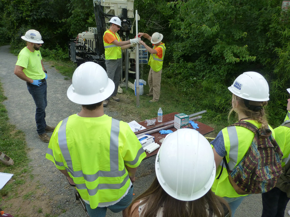WYSE students learned about geo probes from Triad Engineering