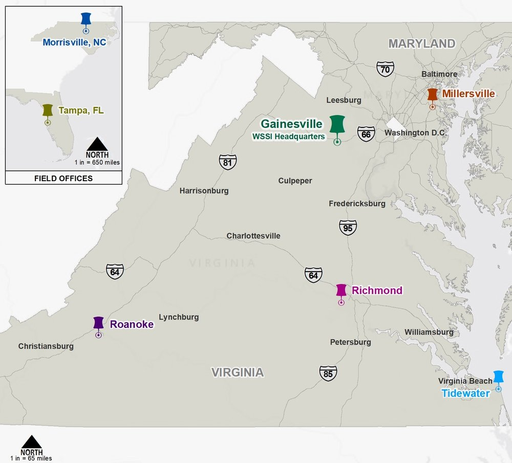 Wetland Studies and Solutions, Inc. now has five full service offices in Virginia and Maryland.