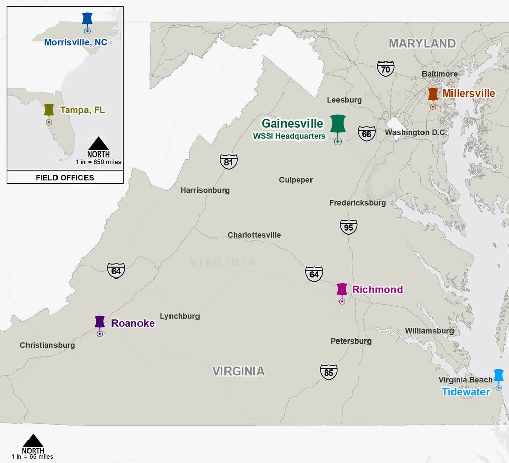 Wetland Studies and Solutions now has five full service offices in Virginia and Maryland.