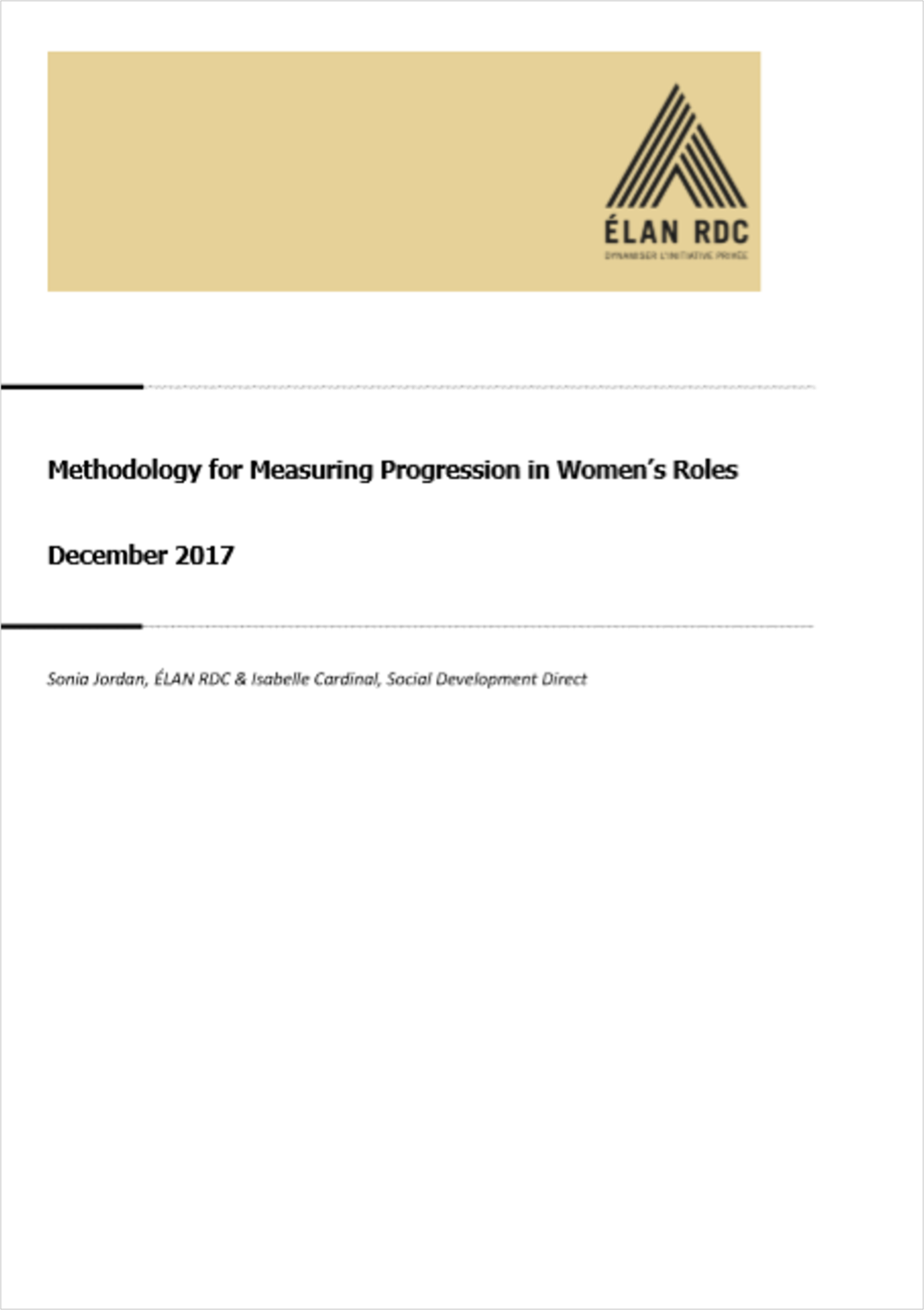 Women's Role Change - Measurement Methodology