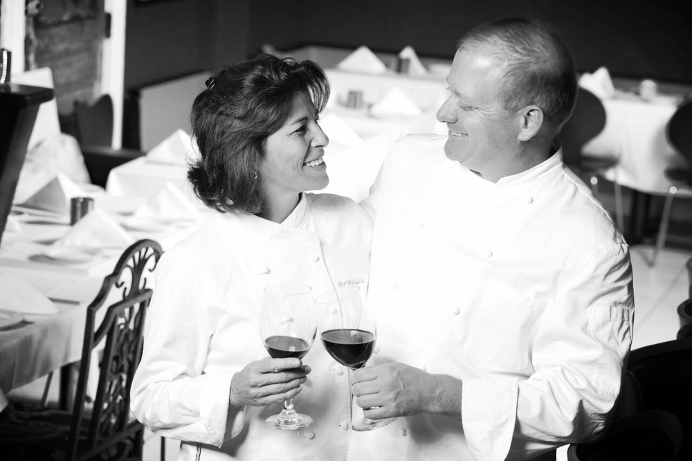 Co-owners Chef Bruce and Pastry Chef Virginia