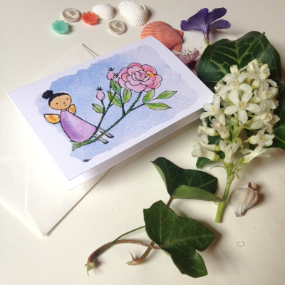 rose enclosure card by clover brown