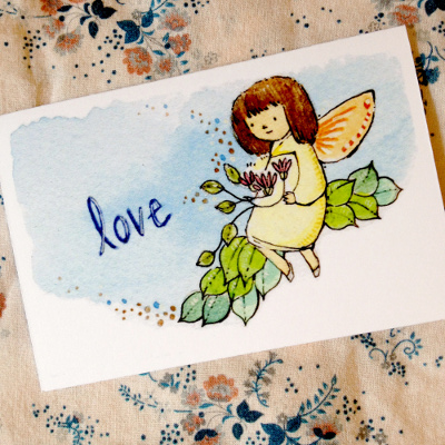 love fairy enclosure card by clover brown
