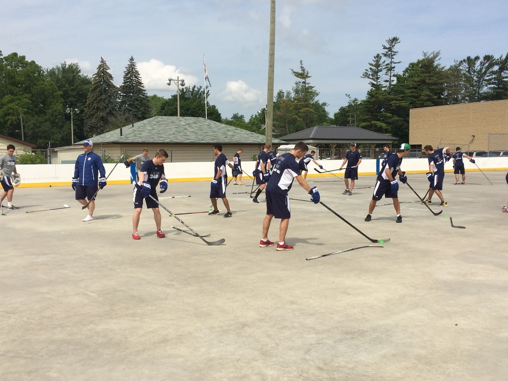 Prospects at Leafs Development Camp in Collingwood, ON.