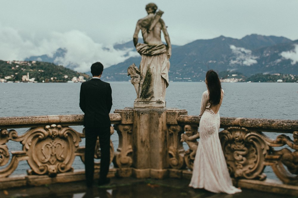 Lisa+Tony / Villa del Balbianello, Como Lake - Italy  ___  elopement  photo