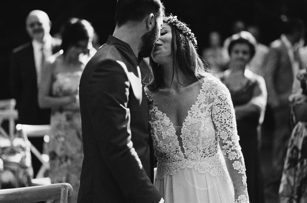 CLAUDIA + STEFANO - b/w film wedding - Italy