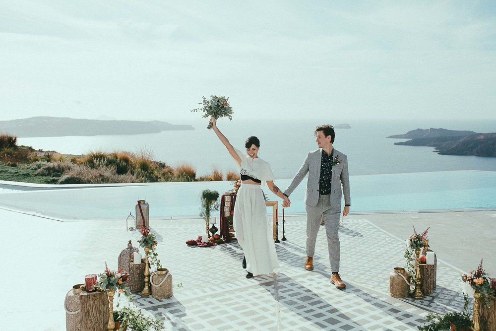 jenny + fanis | santorini, greece  ___  wedding  photo