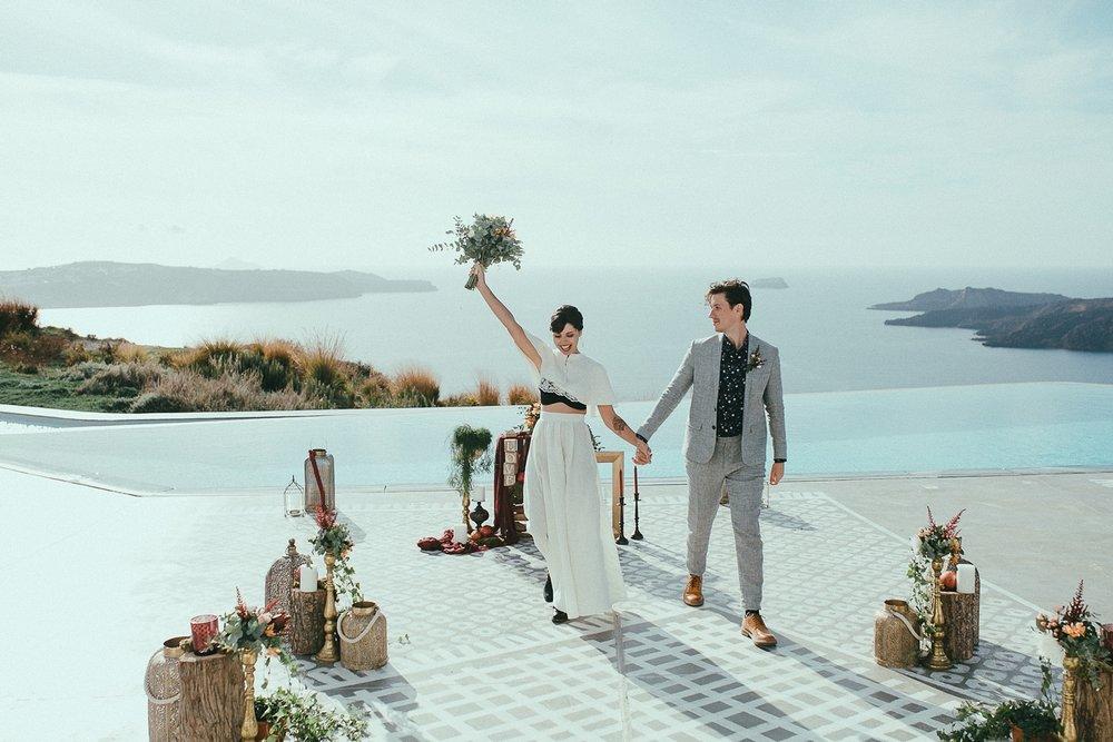 jenny + fanis - Santorini - Greece