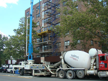 Pouring new balconies Kingsbay housing
