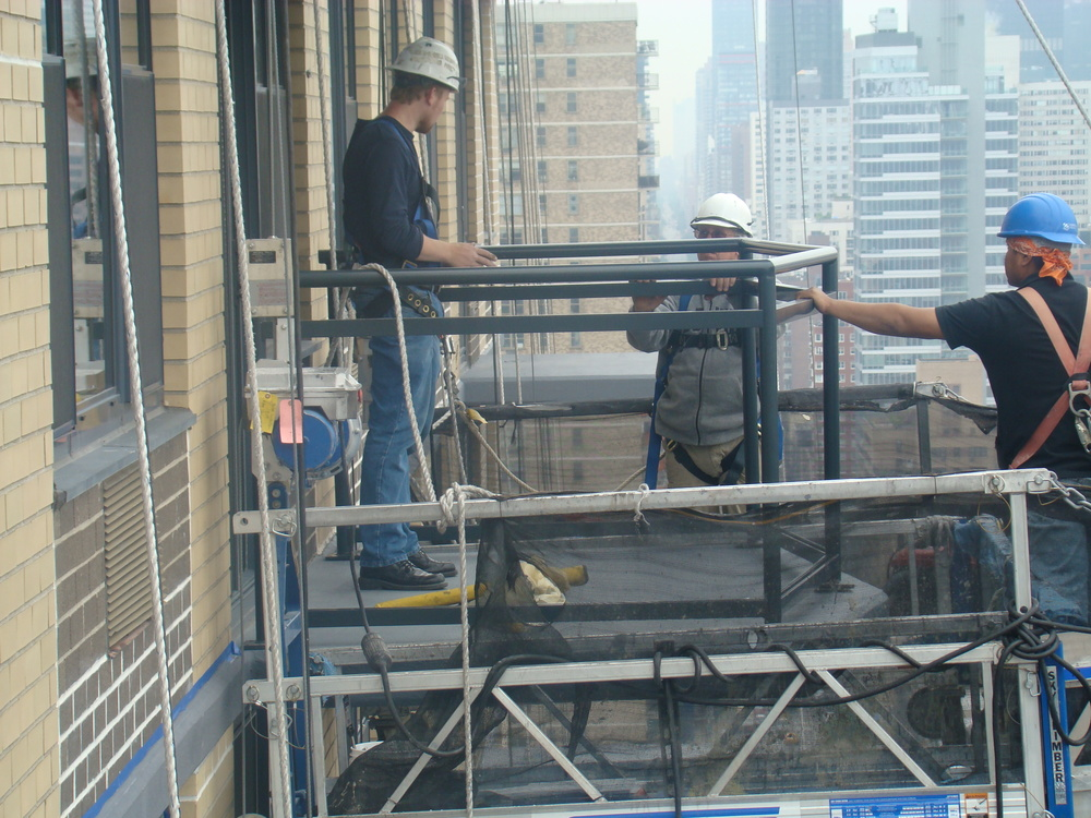 Railing installation 32nd floor