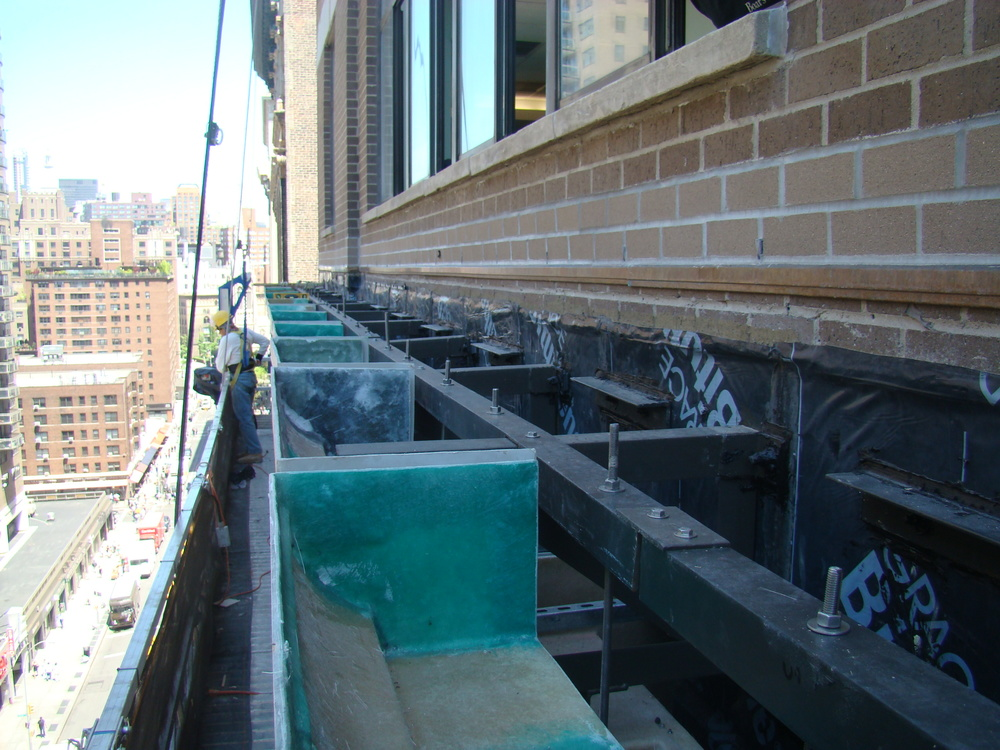 Fabrication & installation of structural steel as part of eater yable assembly