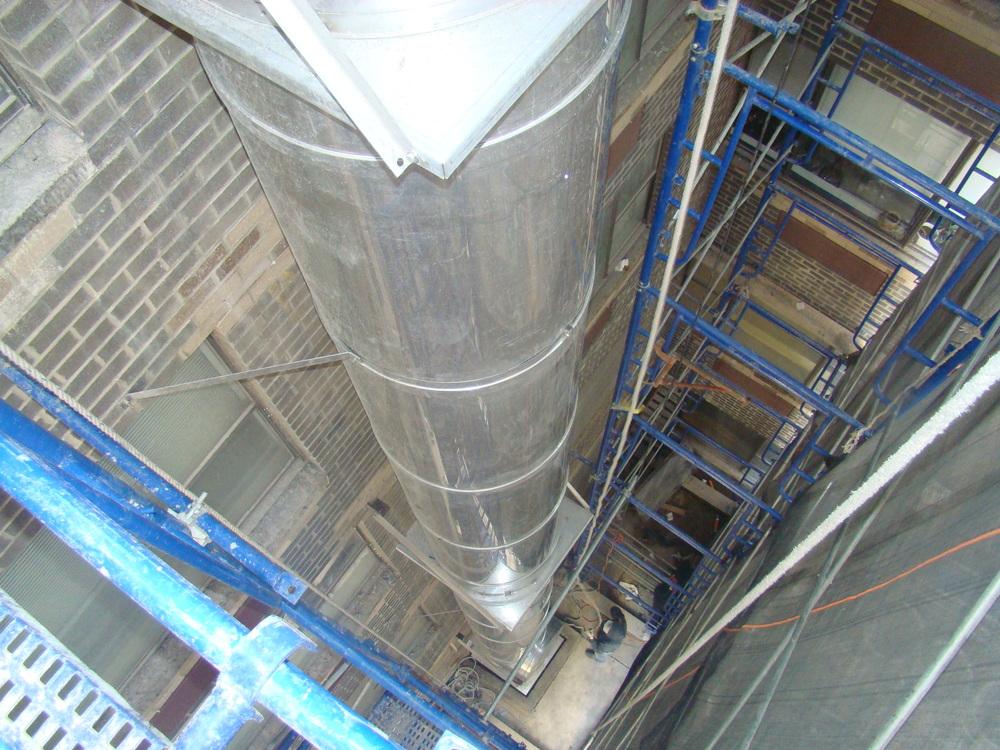 Aluminum chimney