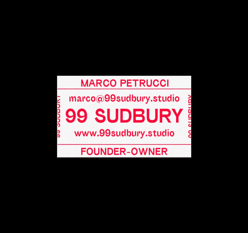 99 Sudbury studio branding