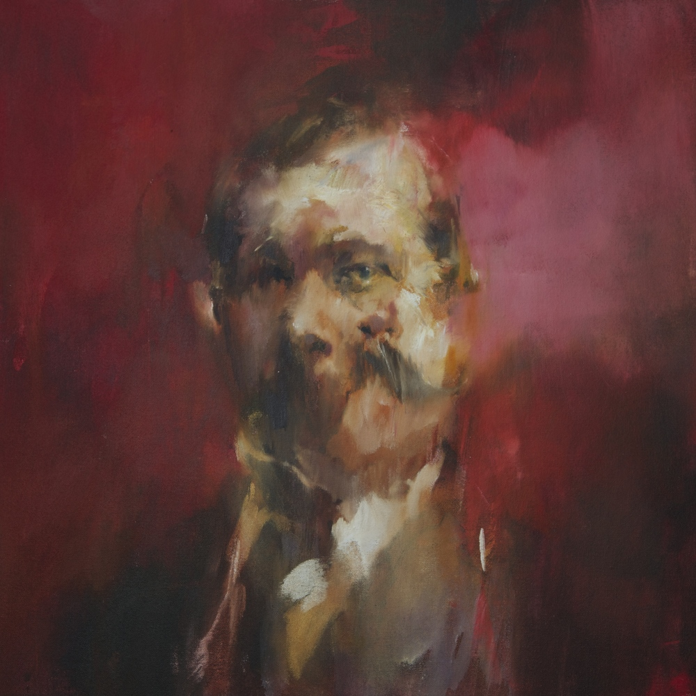 Study of an author, 50x50cm, oil on canvas, 2015.jpg