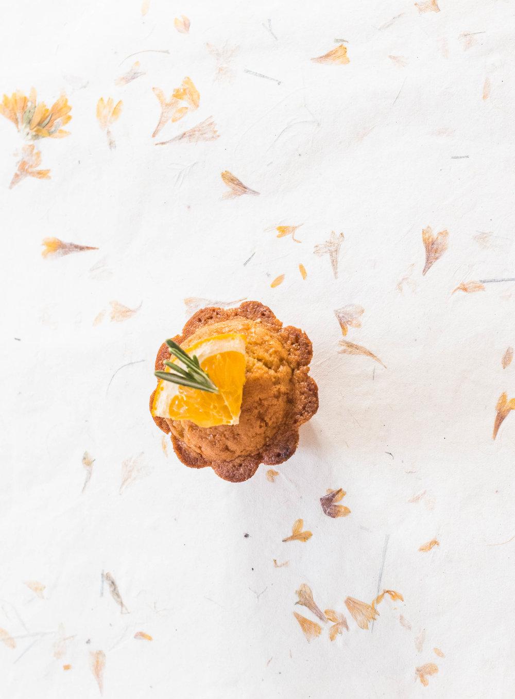muffins orange romarin