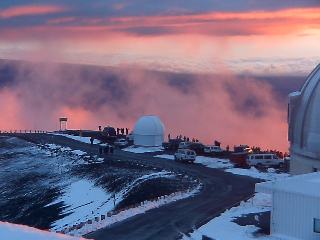 The views from Mauna Kea are otherworldly.  Yes, that's snow... in Hawaii!