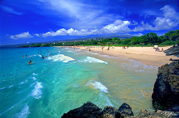 Pristine beaches and secluded hideaways dot the coastline in Kohala. Hapuna Beach (pictured)