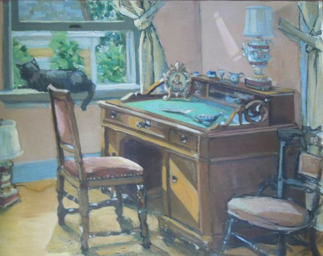 Painting can be picked up at artist's Stamford CT studio or delivered within a 30 mile radius from artists studio.