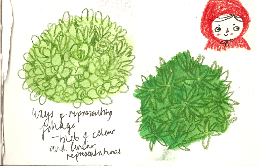 Foliage studies.