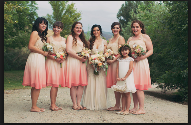 Ombre bridal party style