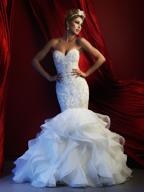 Couture Beaded Bodice Mermaid Gown