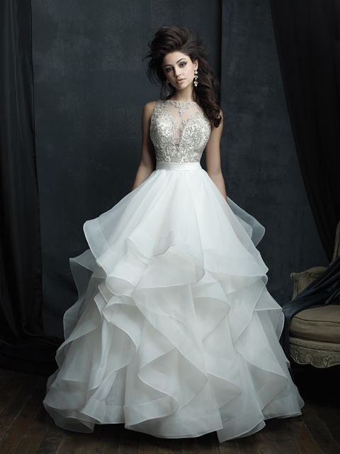 Allure Crystal Beaded bodice ballgown