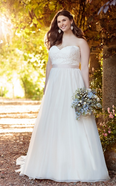 Ball gown plus size wedding dress