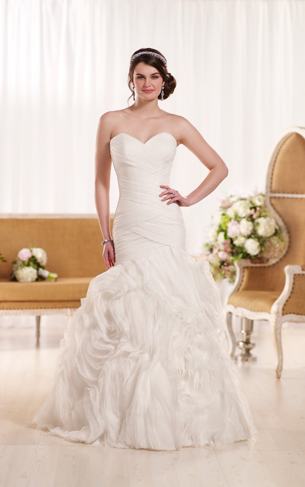 Sweetheart neckline couture wedding dress