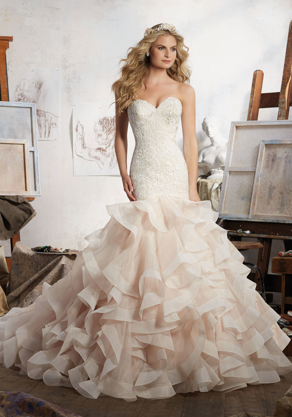 Mori Lee Mermaid wedding dress