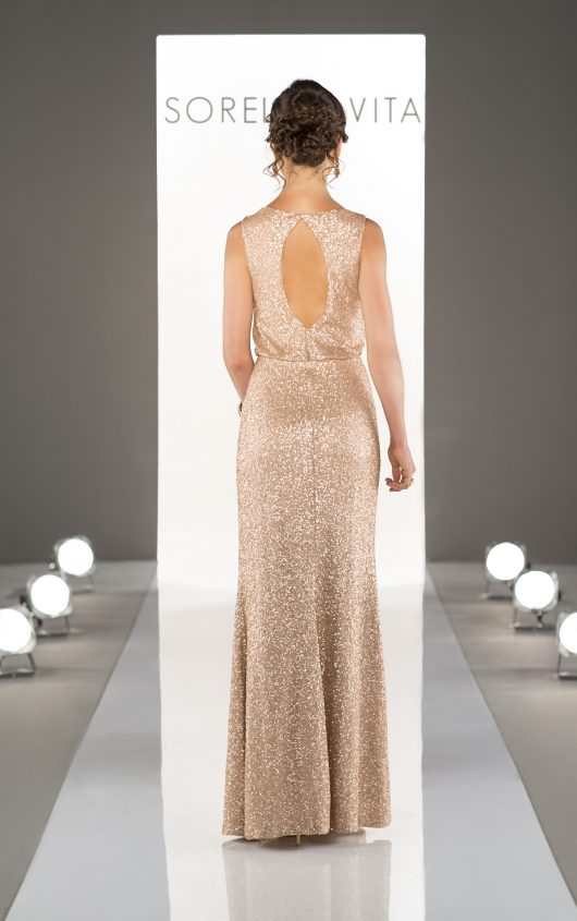 Sorella Vita Gold Sequin Bridesmaids Dress