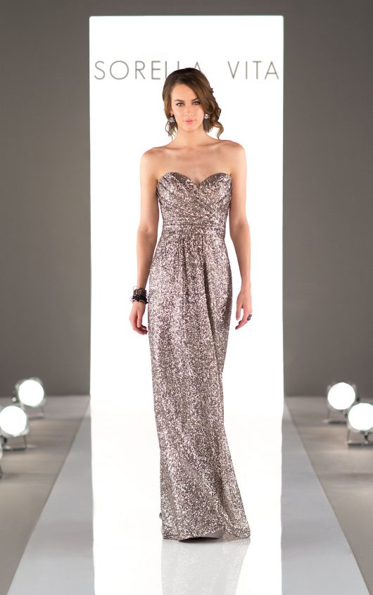 Sorella Viat Sequin Bridesmaids Dress