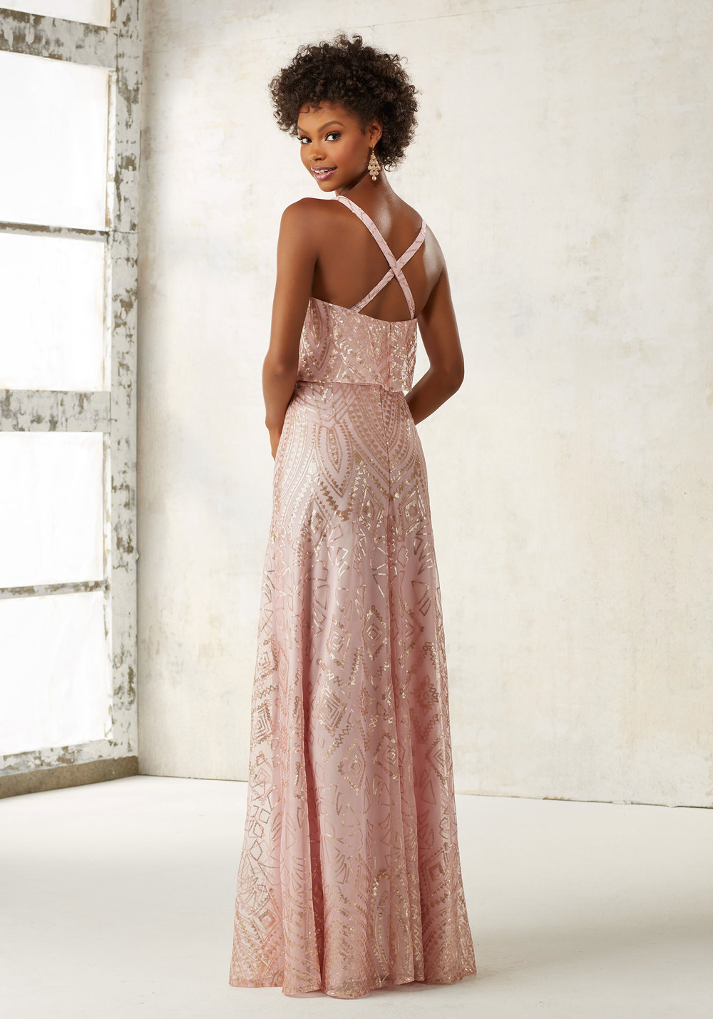 Mori Lee Blush Bridesmaids Dress