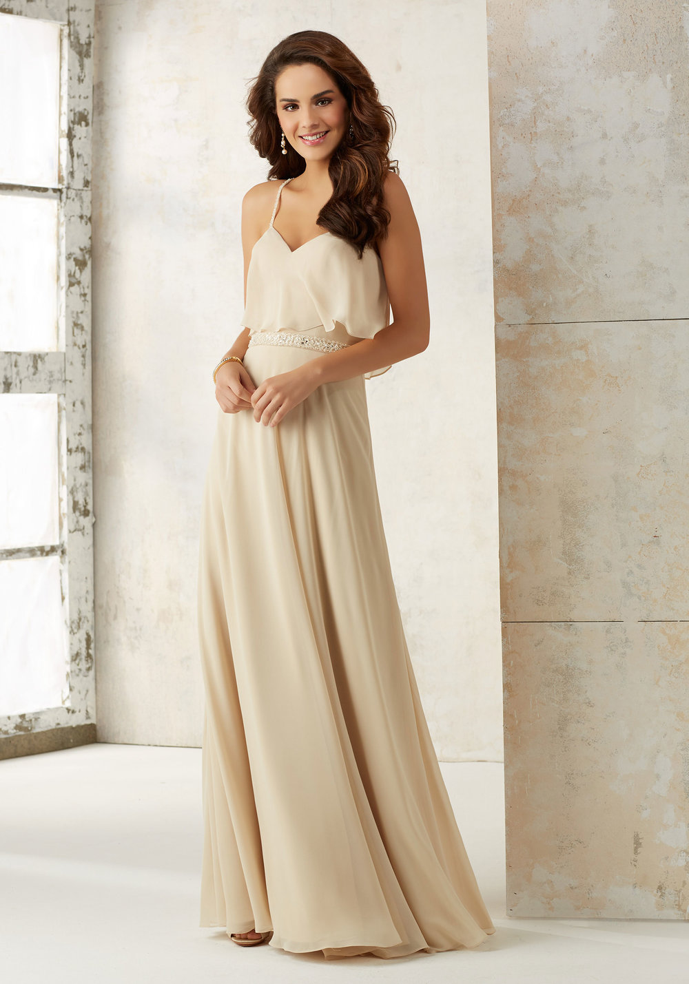 Boho Chiffon Bridesmaids dress