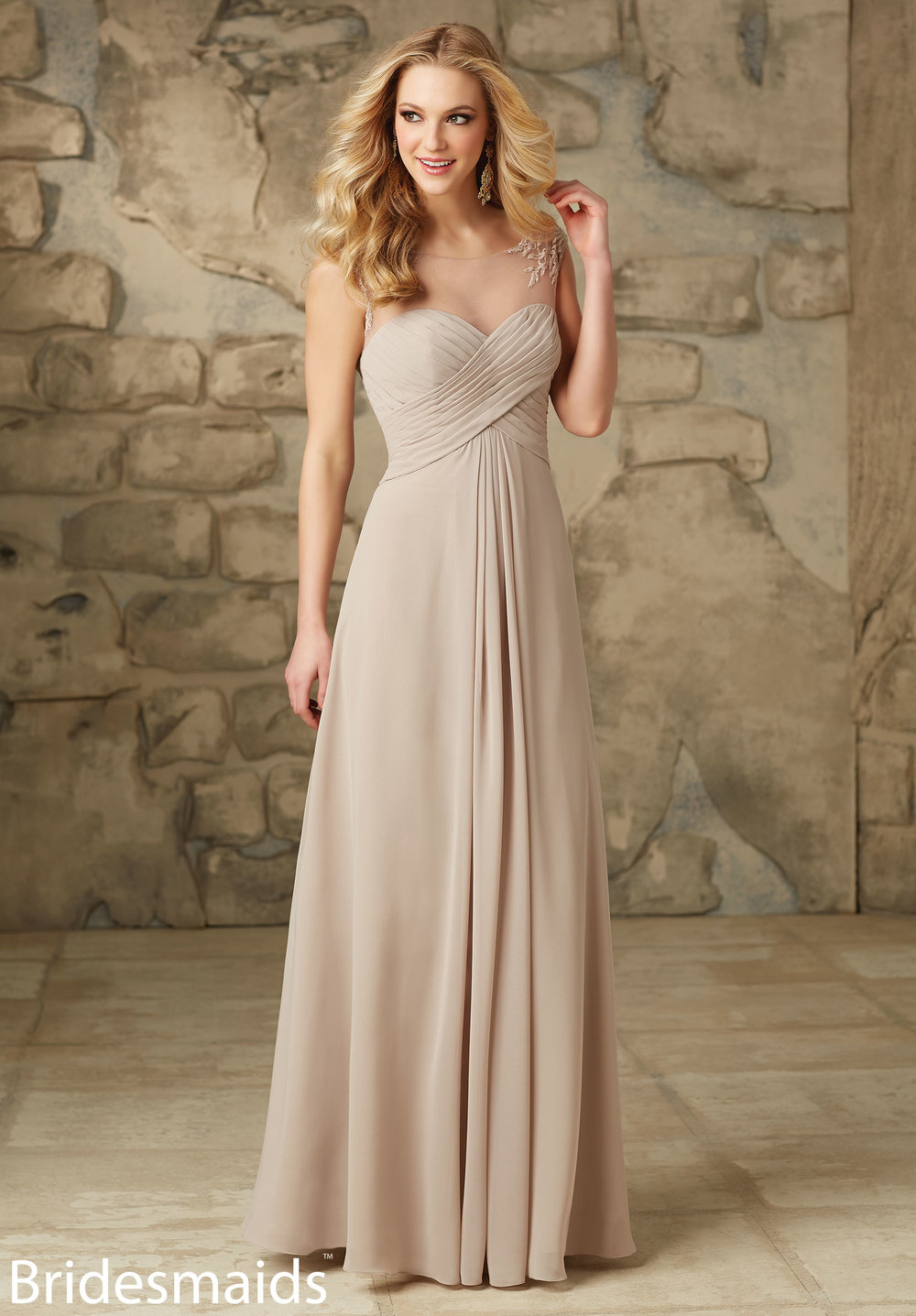 Mori Lee Illusion Bridesmaids Dress