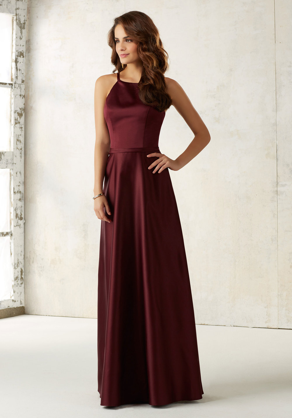 Satin Bridesmaids dress with pockets