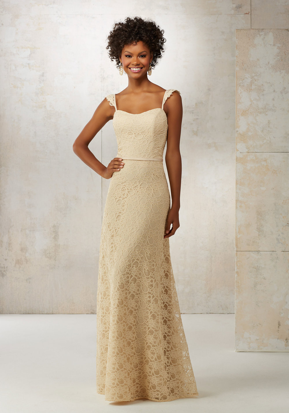 Mori Lee Classic Lace Bridesmaids Dress