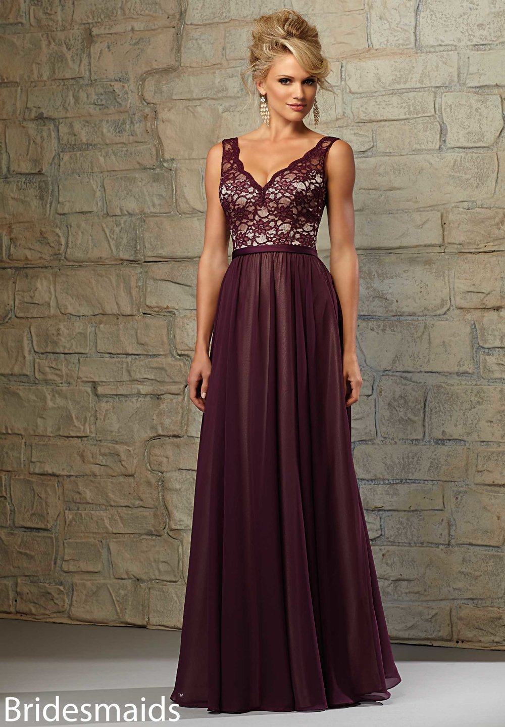 Madeline Garner Lace Bodice Bridesmaids Dress