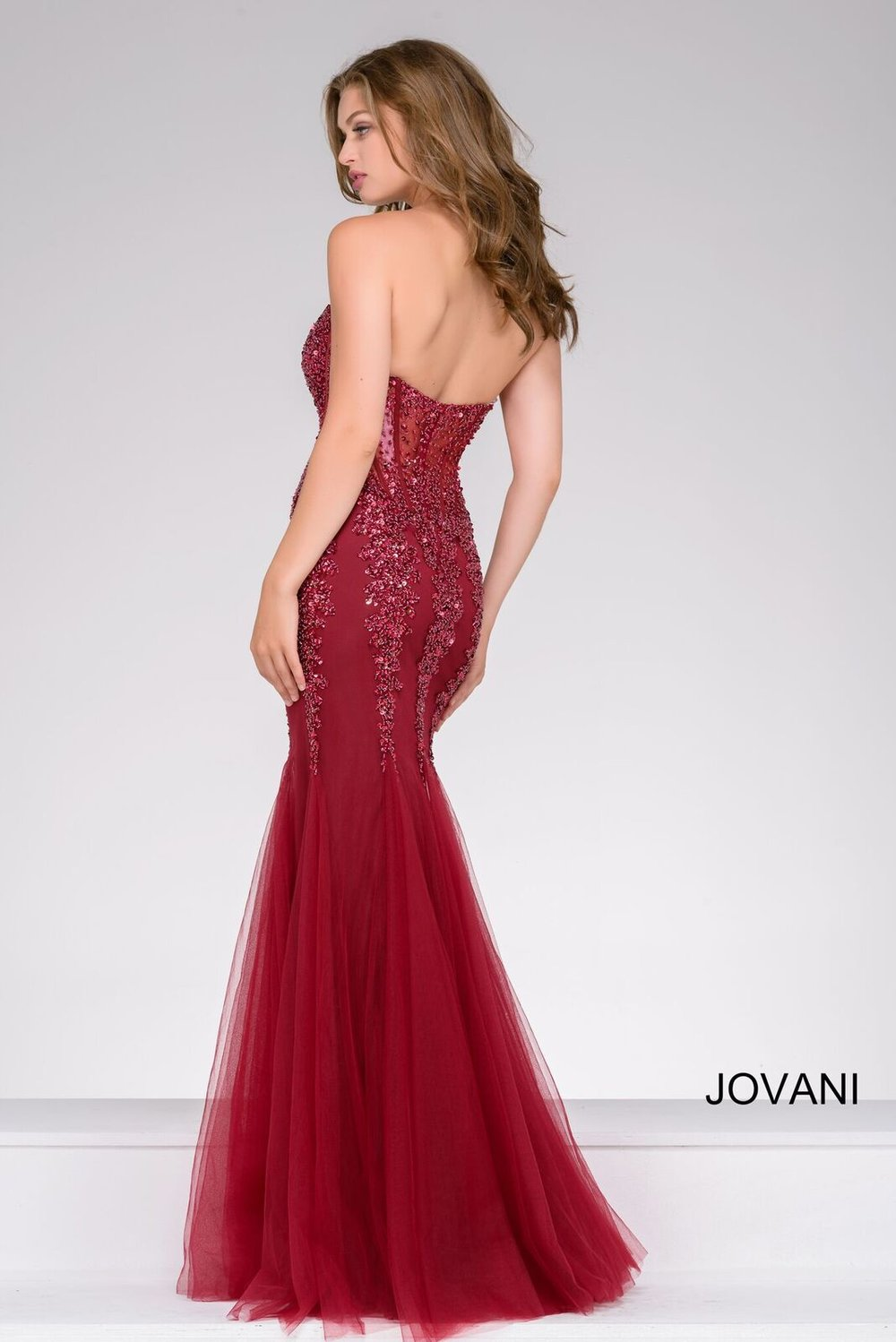 See Through Bodice Prom Dress