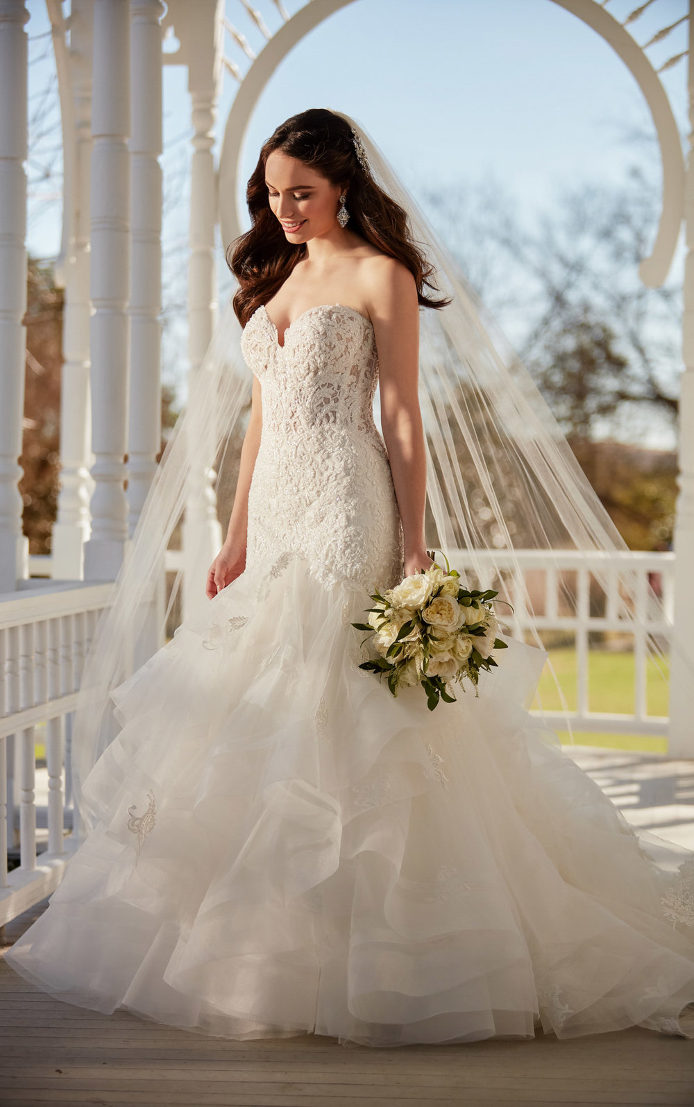 Fairytale beaded mermaid wedding gown