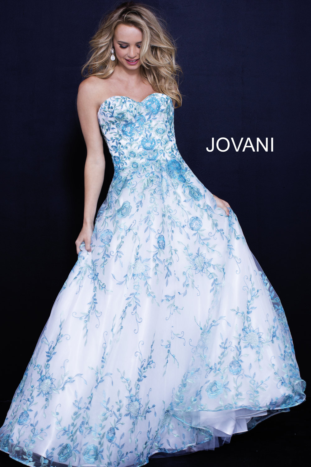 Floral Sweetheart Ball Gown