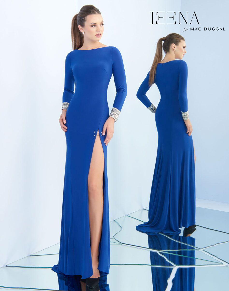Long sleeve Boat Neck with Slit