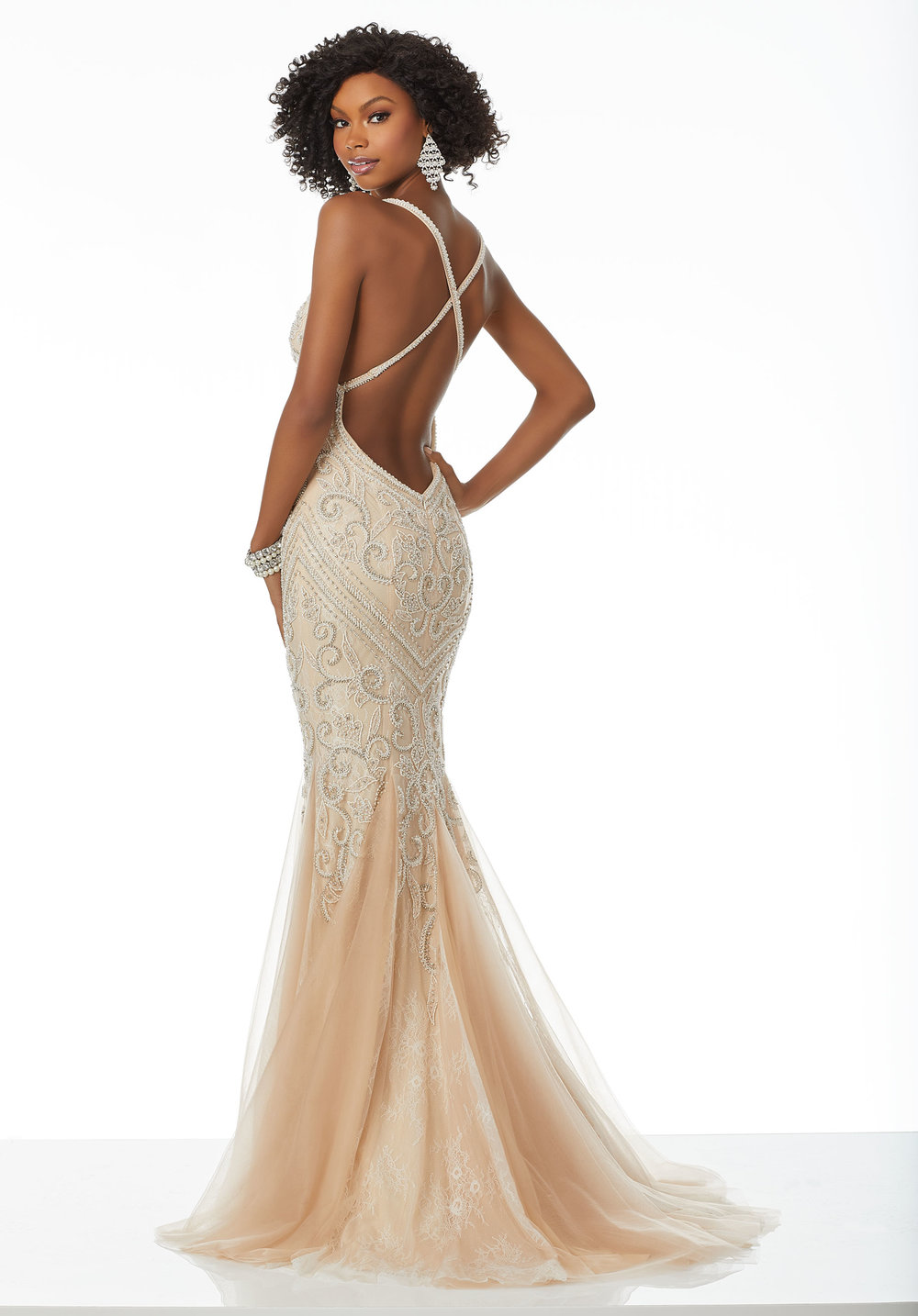 Open Back Fitted Tulle